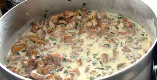 cuisson-girolles-creme